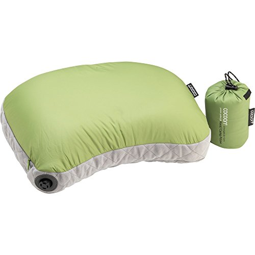 (Cocoon AIR CORE Hood/Camp Pillow Ultralight 28X37 cm (Wasabi/Grey) )