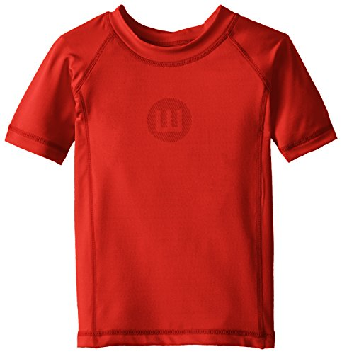 Wes & Willy Little Boys' Toddler Sun Safe Rash Guards, Bright Red, ()