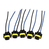 uxcell® 5 Pieces H11 880 881 Wiring Harness Socket Wire Connector Plug