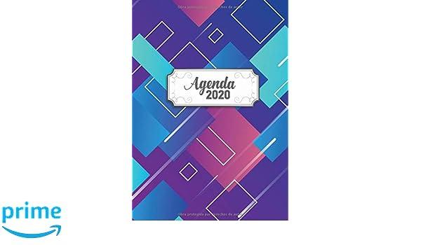 Agenda 2020: Tema Diseno Moderno Agenda Mensual y Semanal + ...