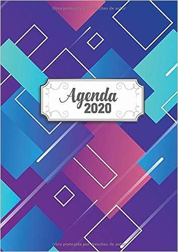 Agenda 2020: Tema Diseno Moderno Agenda Mensual y ...