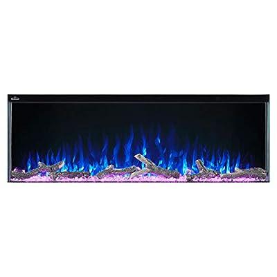 WOLF STEEL Napoleon Trivista 3-Sided Electric Fireplace (NEFB50-3SV), 50-Inch
