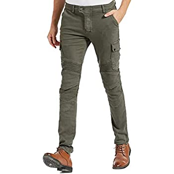 Amazon.com: Motocicleta Denim Jeans para hombres Slim Fit ...