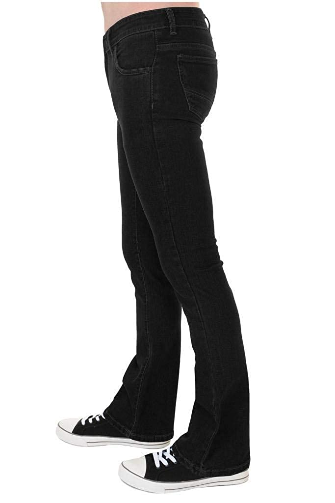 30279eb98d5 Run & Fly Mens 60s 70s Vintage Black Stretch Denim Slim Bootcut Jeans at  Amazon Men's Clothing store: