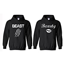 Artix Beauty Lips in White with Beast Scratch Couple Unisex Hoodie
