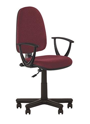 Prestige II-Silla de oficina ergonomica con respaldo inclinable.Asiento ajustable, respaldo regulable.Con reposabrazos.Capacidad de carga: 130kg.-De tela.Reposabrazos desmontables.