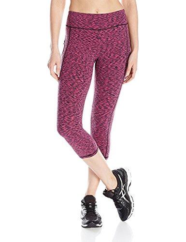 Danskin Women's Supplex Space Dye Capri Legging Beetroot Pink Large [並行輸入品]