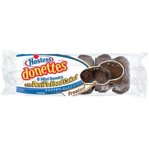 Donettes Single Serve Frosted Double Chocolate Mini Donuts, 3 Ounce -- 60 per case. by Hostess