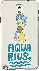 DailyObjects Aquarius Case For Samsung Galaxy Note 3 Back Cover Multicolor