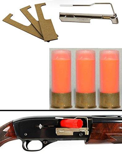 Birchwood Casey Save-It 12 Gauge Semi-Auto Shotgun Shell Catcher + Ultimate Arms Gear ST Action Pro Pack Of 3 Inert 12GA Orange Safety Trainer Cartridge Dummy Ammunition Ammo Rounds Brass Case