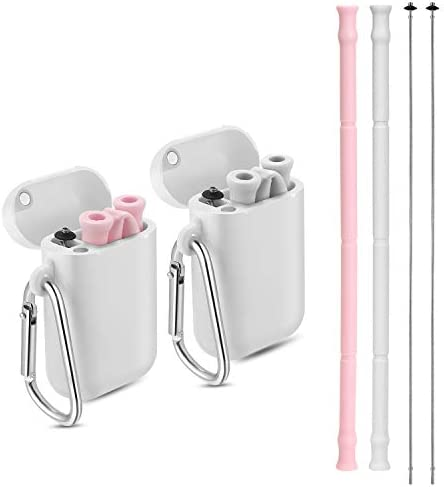 Yoocaa Reusable Silicone Collapsible Straws product image