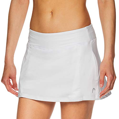 HEAD Women's Athletic Tennis Skort - Performance Training & Running Skirt - Lead Skort Stark White, Small