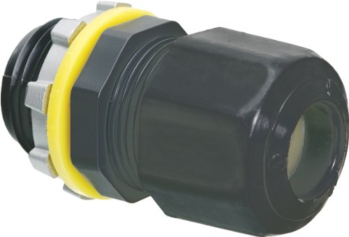 Arlington Industries LPCG50BL 1/2-Inch Low-Profile Strain Relief Cord Connectors, Black, 25-Pack
