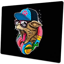 Shalysong Anime Dj cat Mouse pad Mouse pad for Laptop Computers Office Desktop Decoration Accessories Personalized…