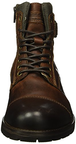 JACK & JONES Jfwalbany Leather Boot, Botas Militar para Hombre Marrón (Brown Stone)