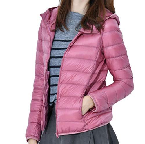 security Women Waterproof Winter Hoodie Coats Lightweight Down Jackets Pink