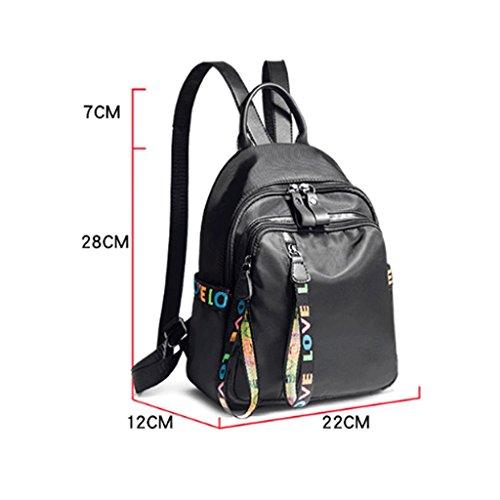 nylon dos Achats DEI Version sac d'Oxford de mode tourisme QI en de sac Noir dos de tissu décontracté sac de à Noir coréenne Couleur à femelle du qUx6w5qB