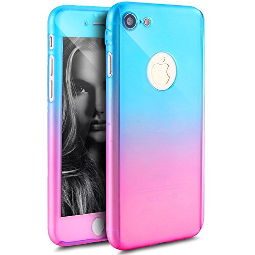 iPhone-6S-Plus-6-Plus-Case-With-Tempered-Glass-Screen-Protector-PHEZEN-Luxury-Gradient-Color-Slim-Fit-Full-Body-Protective-Shockproof-Hard-PC-Bumper-Case-for-iPhone-6S6-Plus-55