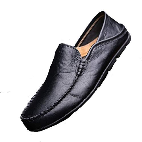da ZHRUI Dimensione Mocassini scuro nero arrotondata Nero Classico scarpe EU blu vera uomo punta in pelle casual barca Colore 43 per marrone Blu OOHdwFrq