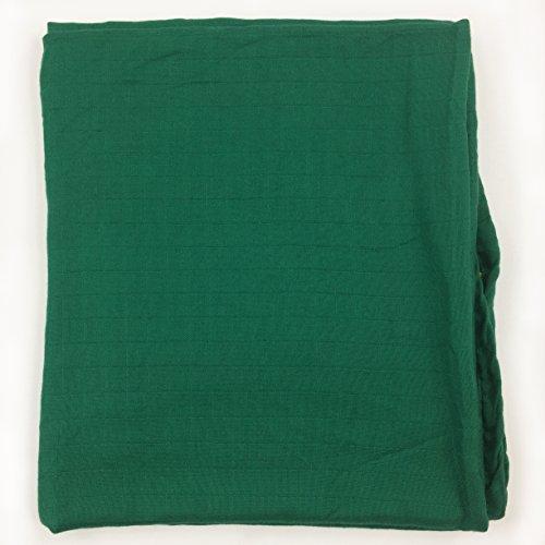 - Bambino Land Bamboo Muslin Swaddle Blanket - Lush Green