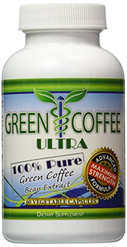 Green Coffee Ultra: 100% PURE Green Coffee Bean Extract with GCA (2 bottles) by Green Coffee Ultra