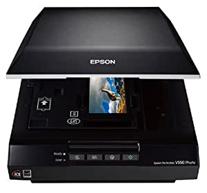 Epson Perfection V550 Color Photo, Image, Film, Negative & Document Scanner with 6400 dpi (Certified Refurbished)