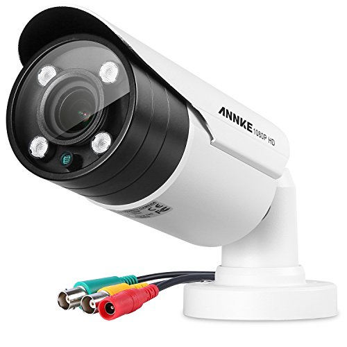 ANNKE HD-TVI 1080p 2.0MP Surveillance Camera with Indoor/Outdoor IP66 Weatherproof Housing and IR Night Vision LEDs, Supports multiple TVI/AHD/CVI/CVBS video output