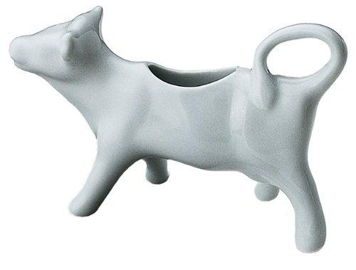 Honey-Can-Do 8040 Porcelain Cow Shape Creamer, White, 3-Ounces