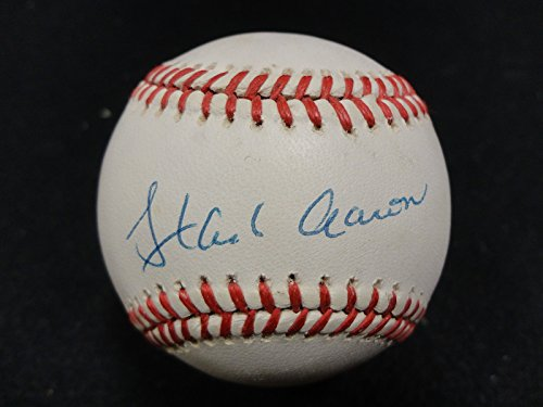 Hank Aaron Signed Auto Autograph Rawlings ONL Baseball - PSA/DNA - Braves 755 HR by JP's Sports/Rock Solid...