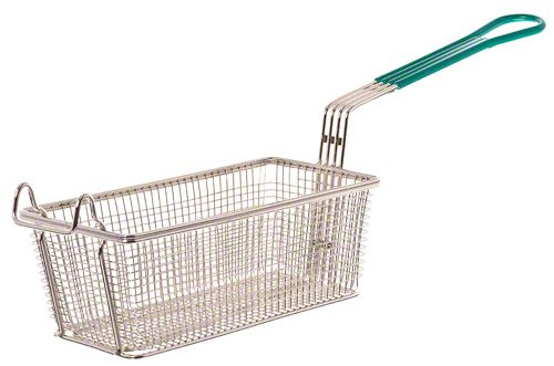 "Update International (FB-115PH) 11"" x 5-3/8"" Rectangular Wire Fry Basket"