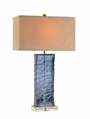 Stein World Furniture Glass Table Lamp, Aqua Blue