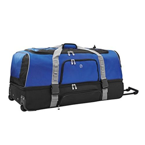 Protege Drop-Bottom Rolling Duffel with Bottom Storage Compartment 36