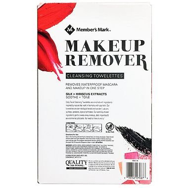 Member's Mark Makeup Remover Cleansing Towelettes (181 ct.) x6 AS
