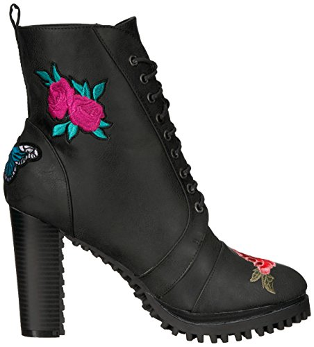 Women's Loves Penny Kenny Black Combat Black Frank Boot EqW1PR