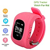 Kuerli Kids GPS Smartwatch, Anti-Lost Smart Watch for Girls Boys, SOS Alarm Activity Wristband Electronic Toy for Android/iOS 2019 Birthday Gifts, Multi-language Global Positioning, Health Monitoring