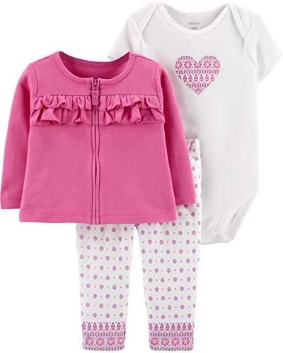 - Carter's Baby Girls 3-Piece Little Cardigan Set (18 Months, Purple Heart)