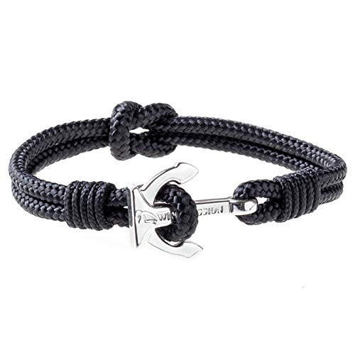 Wind Passion Premium Anchor Bracelet Durable Nautical Rope Cuff Wristband Men Women