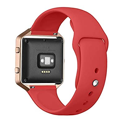 UMTELE For Fitbit Blaze Bands, Sport Silicone Replacement Strap [Pin-tuck Closure] with Frame for Fitbit Blaze Smart Fitness Watch