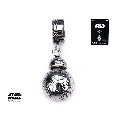Official Stainless Steel Star Wars Episode 7 BB-8 Droid Dangle Charm - New Disney