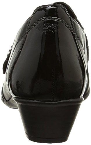 Remonte D7333 01, Damen Slipper Schwarz (noir Combiné)