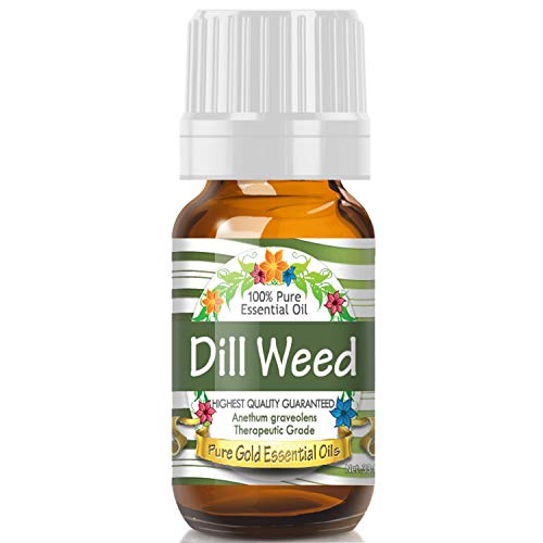 Dill Weed Essential Oil (100% Pure, Natural, UNDILUTED) 10ml - Best Therapeutic Grade - Perfect for Your Aromatherapy Diffuser, Relaxation, More!