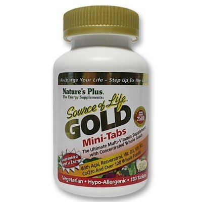 Plus 180 Tabs (Nature's Plus - Source of Life GOLD Mini-Tabs, 180 count)