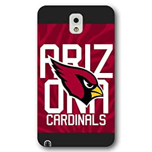 UniqueBox Customized NFL Series Case for Samsung Galaxy Note 3, NFL Team Arizona Cardinals Logo Samsung Galaxy Note 3 Case, Only Fit for Samsung Galaxy Note 3 (Black Frosted Shell)