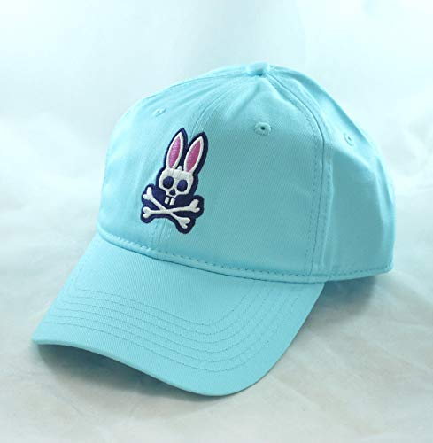 (Psycho Bunny Curved Cotton Twill Visor Hat Dark Teal )