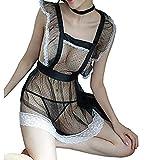Hangang Sexy Lingerie for Women for Sex Lace Bra Set Babydoll Sleepwear Strap Bustier Underwear Suit