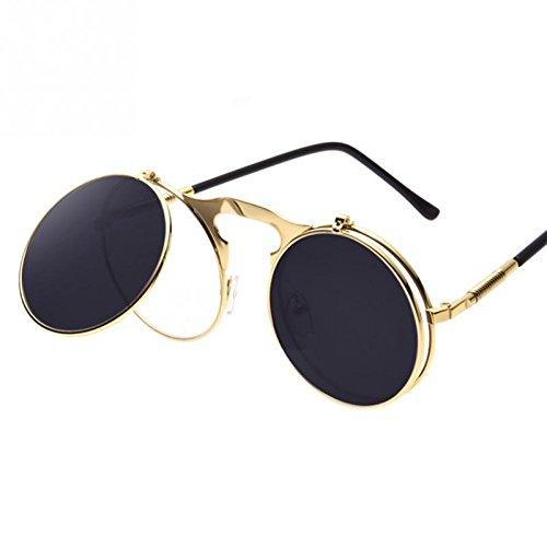 Amazon.com : Vintage Steampunk Sunglasses round Designer steam punk ...