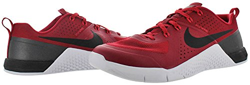 1 Nike Gym White Red Bright Mens Training Crimson 704688 616 Black Shoes Metcon TTEFwR