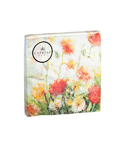 (Cypress Home Fleurs Des Champs Paper Cocktail Napkin, 20 count)