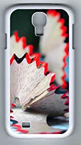 Pencil flower Polycarbonate Hard Case Cover for Samsung Galaxy S4/Samsung Galaxy I9500 White