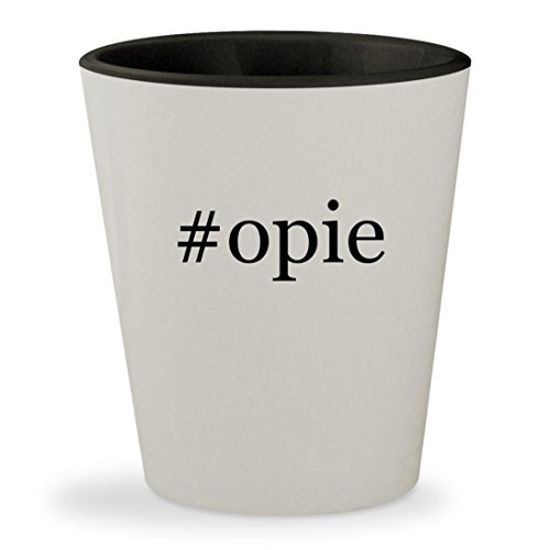 #opie - Hashtag White Outer & Black Inner Ceramic 1.5oz Shot Glass